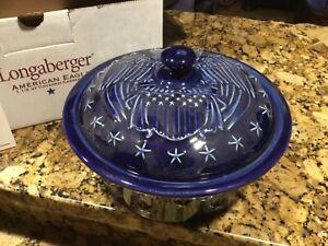 Longaberger-Proudly-All-American-Eagle-Casserole-Baking-Serving-Dish-NIB