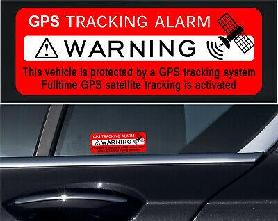 Warning Vehicle GPS Protected Vinyl Sticker phone, bumper, window, glass