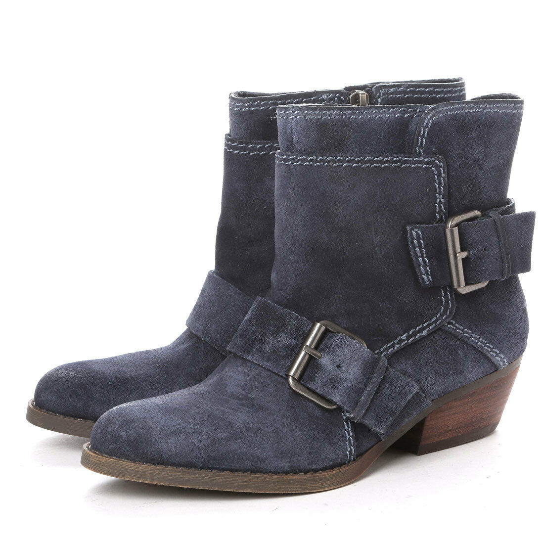 Nine West Vintage Collection Vasabady Ankle Boots Navy LN180 XX 02