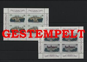 Germany-GDR-vintage-yearset-1986-Mi-3032-3033-Sheetlet-Postmarked-Used
