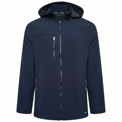 Mens Soft Shell Fleece Full Zip Jacket Wind And Rain Resistant Breathable Hoodie