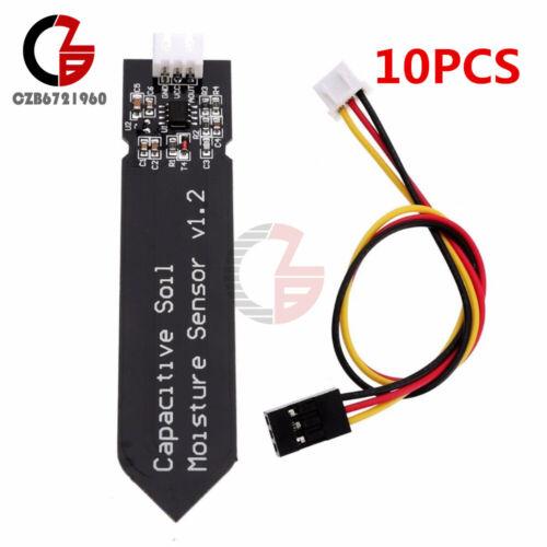 Cable 10PCS Analog Capacitive Soil Moisture Sensor V1.2 Corrosion Resistant