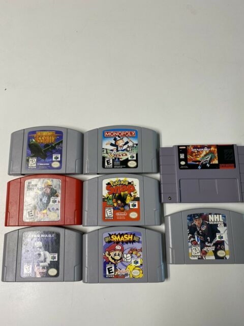 Nintendo 64 Games Lot With 1 Super Nintendo Game 8 Total
