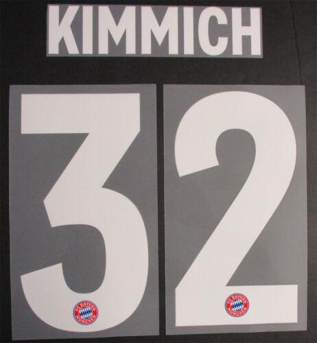 Kimmich 32-18//19 BAYERN MONACO HOME NOME E NUMERO SET = dimensione del giocatore