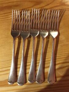 5 x Vintage Silver Plated EPNS Table Forks 17cm A1