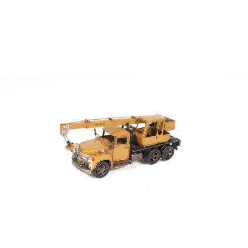 Details about  /Metal Handmade Tin Crane Truck Model