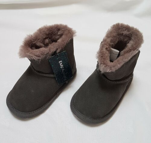 Designer EMU Australia Toddle Charcoal Boots Size 12-18 months RRP £35 New