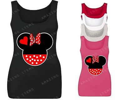 Minnie Head Women's Tank Top Couple Matching tops cute couple