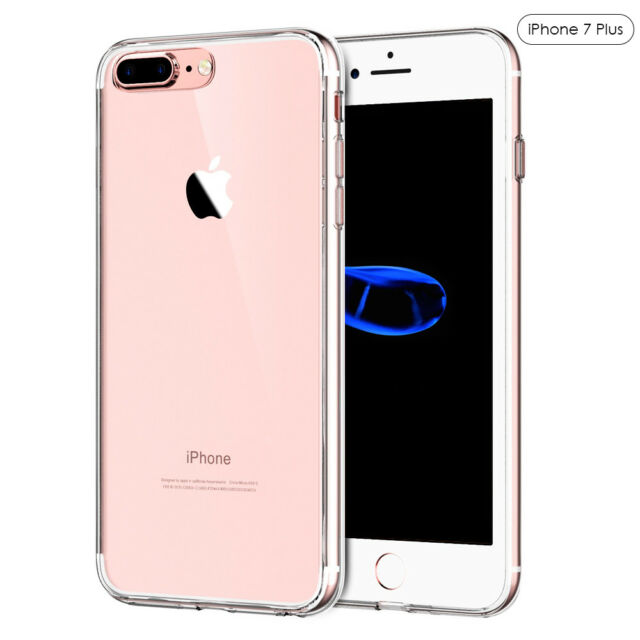 For Apple iPhone 7/8 Plus Slim Silicone Ultra-thin Back Clear Case TPU Cover