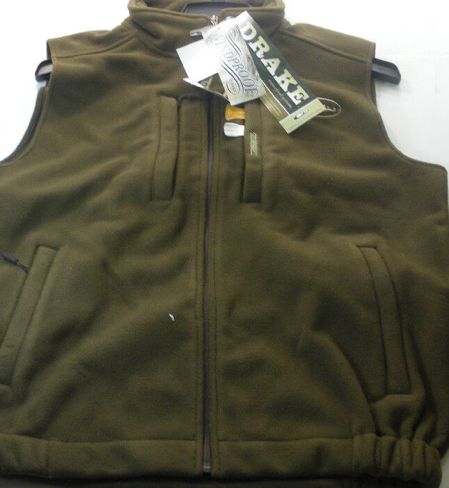 Drake 160109-S Marron Coupe Vent sous Pull Polaire Gilet Taille S 15334