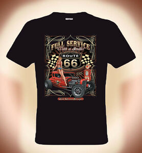 gearhead rockabilly t shirt route 66 full service gr s. Black Bedroom Furniture Sets. Home Design Ideas