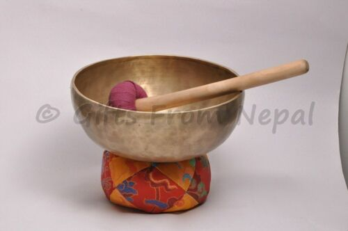 """9/"""" Hand Hammered Singing Bowl,Made of 7 metals Meditation Bowls from Nepal 2015"""