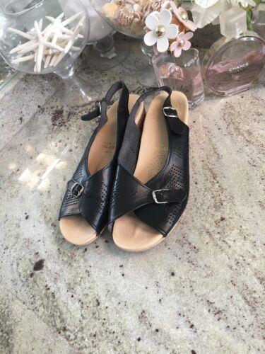 Worishofer Cork slingback sandals black women US 9