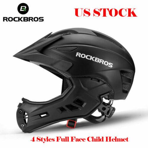 ROCKBROS Cycling Children Full Face Helmet Kid Child Bike Safety Sport Helmet US