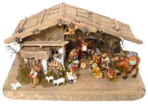 Weihnachtskrippe-Echtholzfiguren