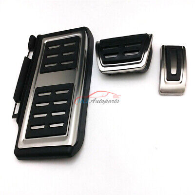 MT No Drill Gas Brake Pedal Stainless Steel Anti-slip Accelerator Brake Pedal Cover Fits A3 S3