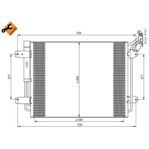 35848 Condensador para aire acondicionado clima condensador clima radiador nuevo nrf