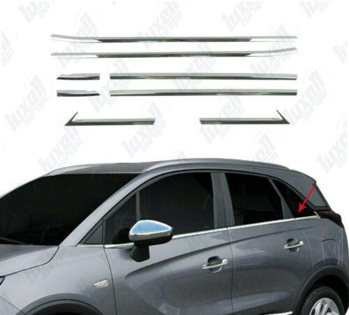 2017Up Vauxhall Opel Crossland X Chrome Windows Frame Trim Cover 8Pcs S.STEEL