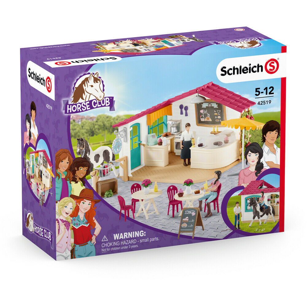 Schleich Horse Club Rider Café with Horse Figure Playset - 42519