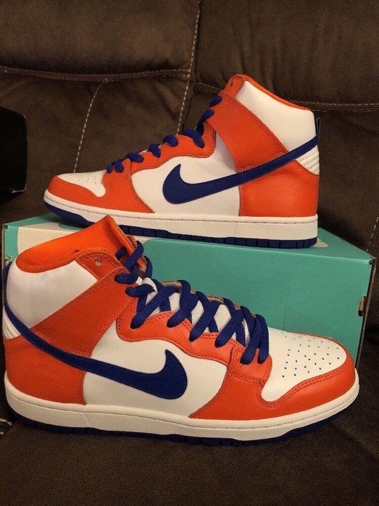 NIKE SB Dunk High TRD QS Danny Supa orange Hyper bluee AH0471-841 Size 11