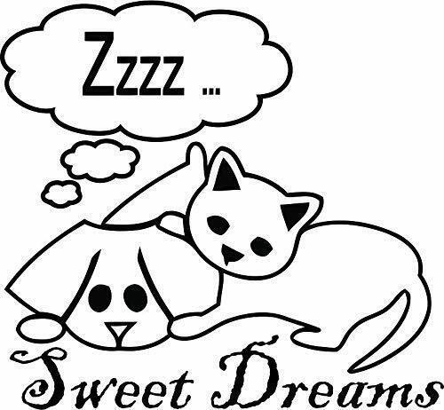 Details about  /Pet Cat Dog Sleep Cartoon Kids Vinyl Art Stickers For Home Room Walls Decals