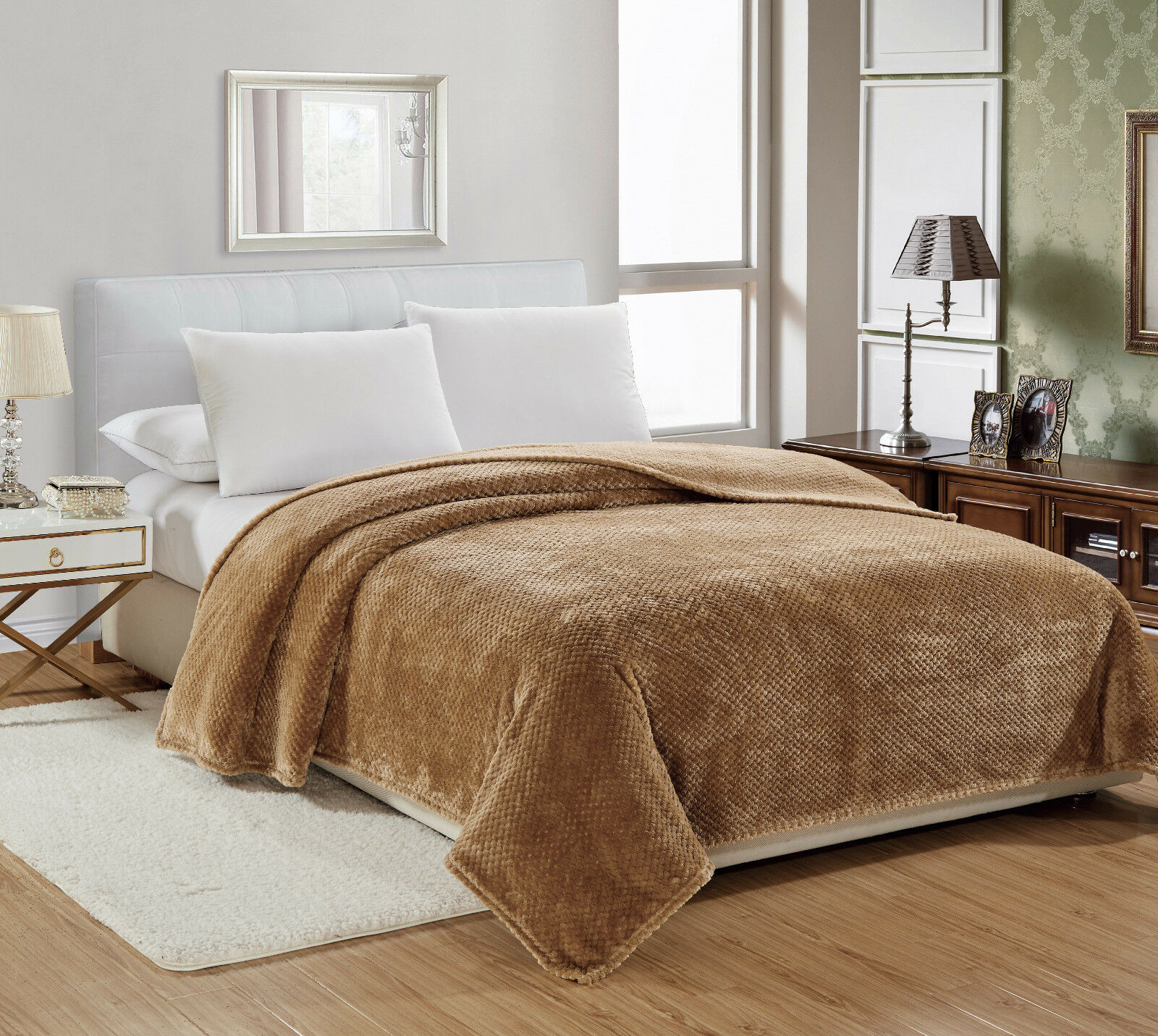 Premium Plush Cozy Fleece Throw Blanket Cover - Assorted Colors & Styles