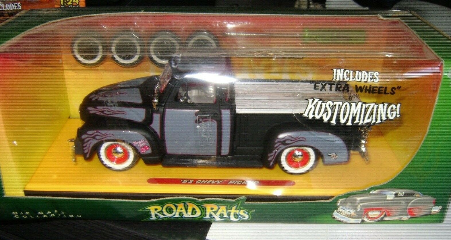Road ratas Jada Juguetes 1953'53 DIE-CAST Chevy Camioneta 1 24 Con Ruedas Extra