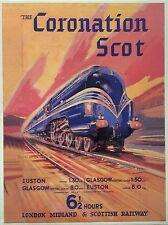 """Reklameschild aus Blech """"THE CORONATION SCOT"""", Eisenbahn, neuwertig."""