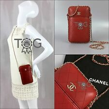 2017 NEW Chanel CC Quilted Leather Chain Cross Body Shoulder Evening Clutch Bag