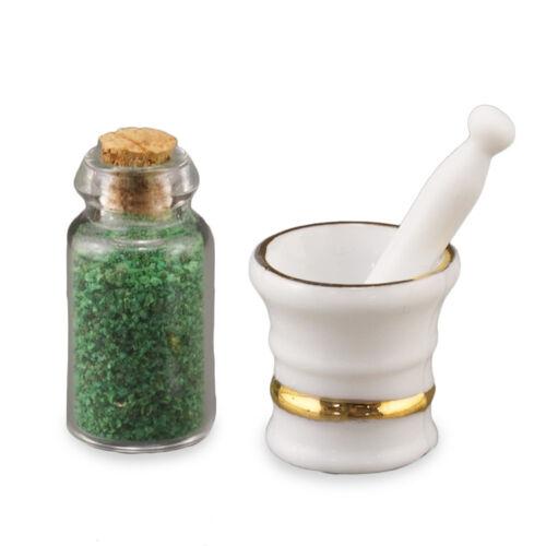 Reutter Porzellan Porcelain Mortar Mortar /& Pestle Set 1:12 Dollhouse 1.743//8