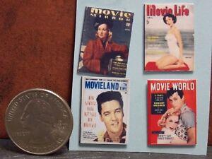 Dollhouse Miniature Vintage Magazines Books Movie 1 12 Scale H145