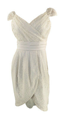 Quality Online Retailer Ivory Lace Dress Cross Bodice Tulip Skirt orig price £75