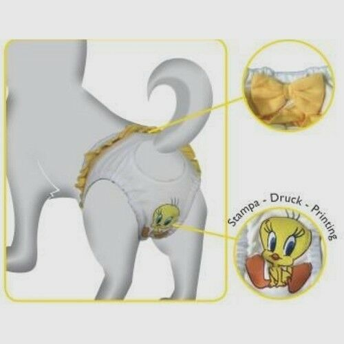 Mutandina igienica per cani Tweety Yellow in cotone