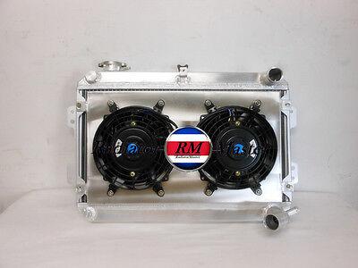 ALUMINUM RADIATOR FOR 1979-1985 MAZDA RX7  RX-7 S1 S2 S3 3ROW  MT Shroud/&Fans