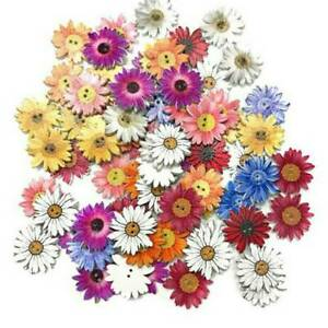 Wholesale-50Pcs-Wooden-Buttons-Sewing-2-holes-Scrapbooking-Button-Crafts-Flower