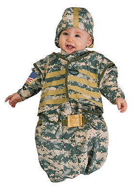 Soldier Bunting Military Camo Cute Dress Up Halloween Infant Baby Child Costume