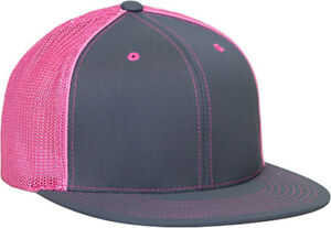 Image is loading Pacific-Headwear-Blank-Fitted-404M-Trucker-Hat-Mesh- e375cfff141