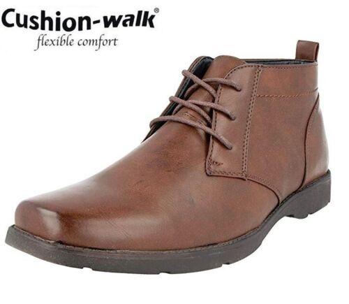 MENS Cushion Walk BROGUE ANKLE DEALER BOOTS FORMAL DESERT SMART CASUAL SHOES SZ