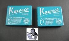 # Kaweco Cartuchos 2 Paquetes Tinta Turquesa nuevo #