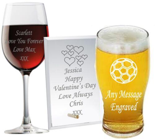 Cadeau verre personnalisé Valentine