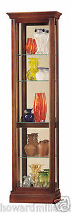 Howard Miller 680-245 Gregory - Small Traditional Cherry Curio Display Cabinet