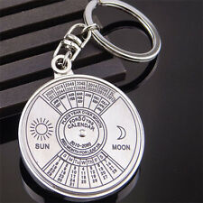New Perpetual Calendar Keyring Keychain Unique Metal Key Chain Ring 50 Years