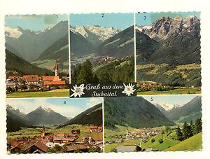 Postkarte-Gruss-aus-dem-Stubaital-Tirol-Tiroler-Kunstverlag-Nr-514-gelaufen-TKV