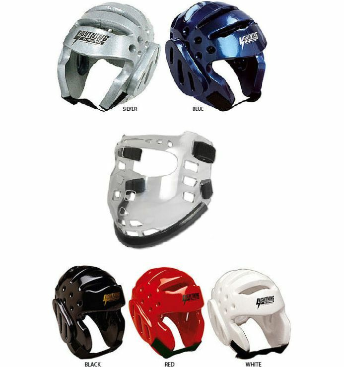 ProForce HeadGuard Helmet AND Face Shield Mask Karate Sparring Gear Set