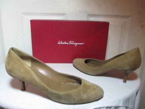 en cloutésChaussures daim Italie en Salvatore habillées 8 à bruns FerragamoEscarpins B fabriquées talons 0m8vyNwOn