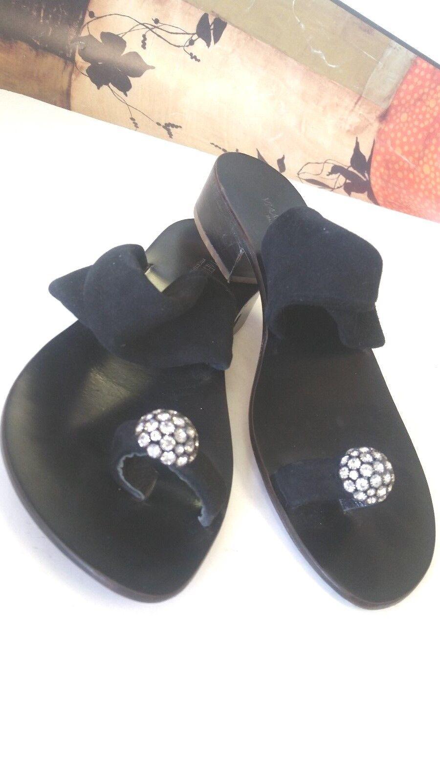 Women's Viamercanti Super Cute Cute Cute Suede Italian Hand Crafted Sandals shoes sz 7 c91ba3