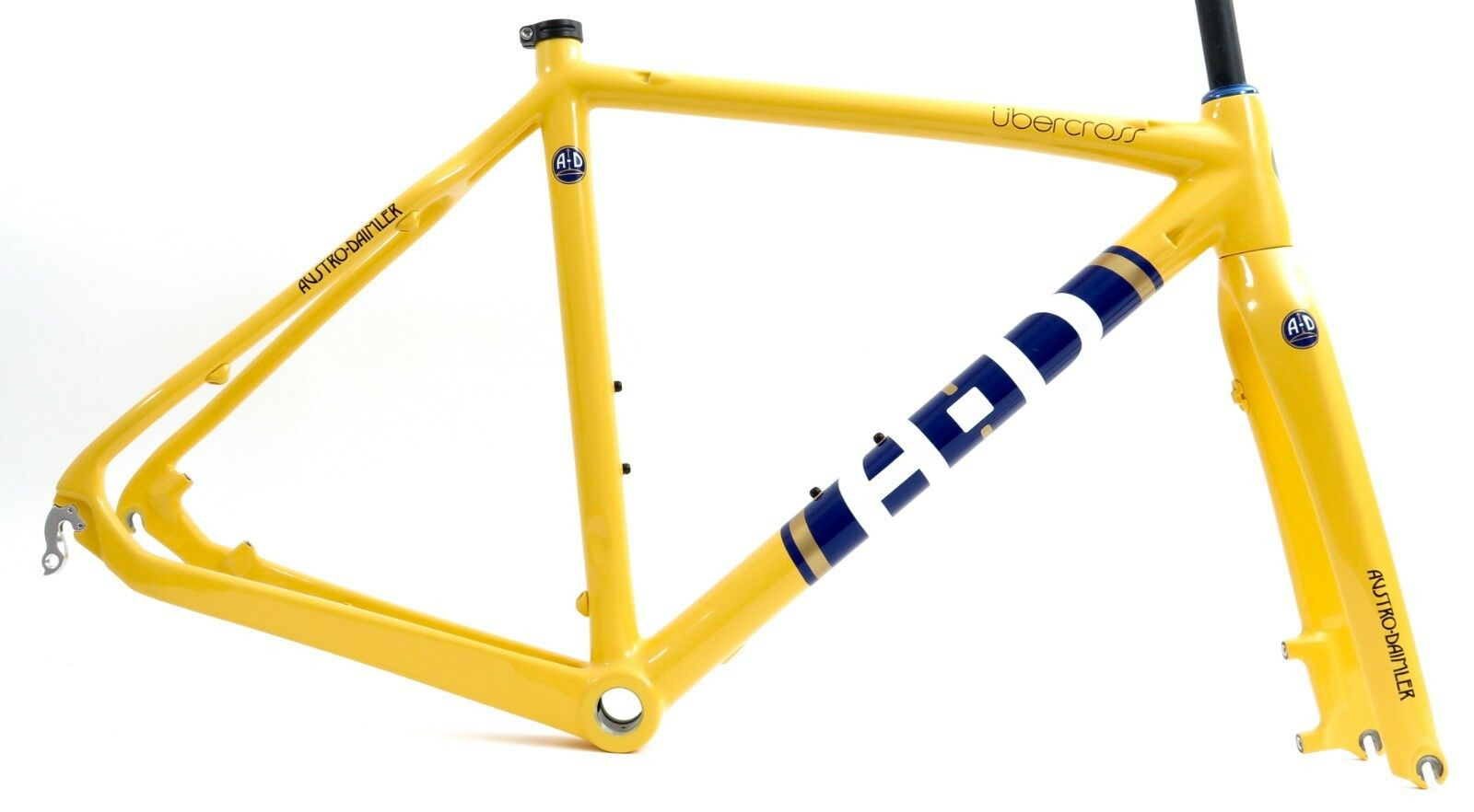 A-D Ubercross Carbon Disc Limited frameset cyclocross Champagne Gelb