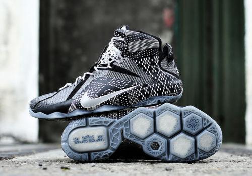 Nike lebron 12 xii bhm dimensioni 718825-001 - kyrie cork palmer
