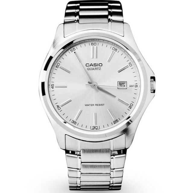 Casio Men S Silver Analog Stainless Steel Band Date Watch Mtp 1183 A 7 Ad For Sale Online Ebay