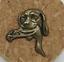 縮圖 1 - Pin Dog Of Hunting With Presa. Shade Bronce. Realised Per Samuel Espi